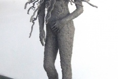 Mother Spirit of the Baobab | Mannequin, Native Soil, Exterior Acrylic paint and wood | 72x33