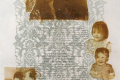 Ketubah  - Claire & Chris #1 |  Gum Arabic prints & collage on Handmade Paper | 26 x 38