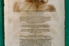 Ketubah - Suzanne & Larry | Gum Arabic prints & Needlework on Handmade Paper | 26 x 38