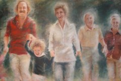 The Dorfmans | Acrylic on Canvas | 72 x 36