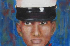 Marine Graduation | Acrylic on Canvas | 4 x 4