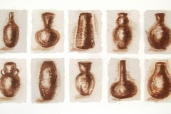 Earth Vessels  |  South African Soil on Zebra Dung Paper mounted on Canvas | 12 x 9 each