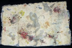 Kwela Man  |  Hand-Embellished Collagraph & Mixed Media on Hand-Made Paper |  42 x 72