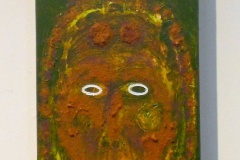 Witchdoctor #4 | South African Soil, Acrylic & Botox Bottles on Canvas | 14 x 6